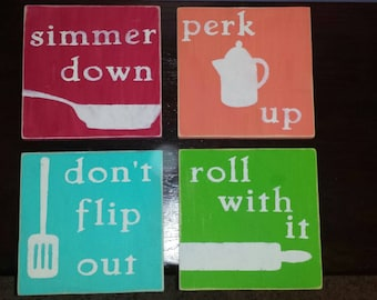 Set of 4 Chef's Attitude signs