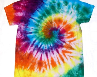 Tie Dye Shirt Spiral 100% Cotton