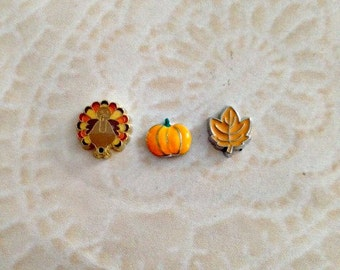 Fall and Thanksgiving floating charms for memory lockets