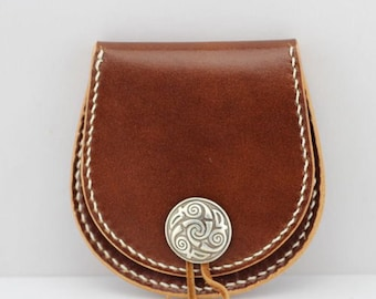 PDF Pattern template Leather Coin Wallet, Leather Coin Purse, Leather Coin Tray, Leather Clam Purse, handmade