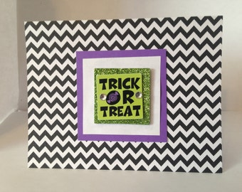 Trick or Treat Halloween Cards- Homemade