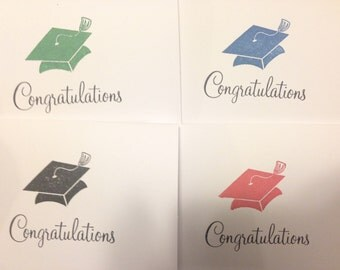 Congratulations Graduation Cap Card- Handmade