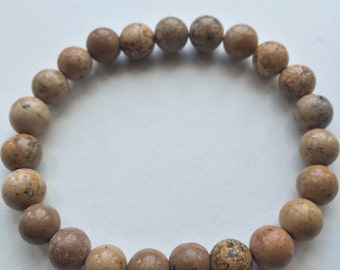 Picture jasper beaded bracelet