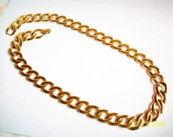 Vintage Napier Chain Link Necklace, Gold Tone Napier Choker Necklace, Estate Jewelry, Napier Signed Jewelry, 1960s',