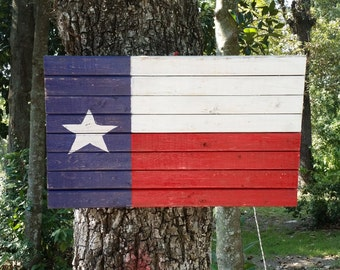 Rustic Texas Flag indoor or outdoor sign.