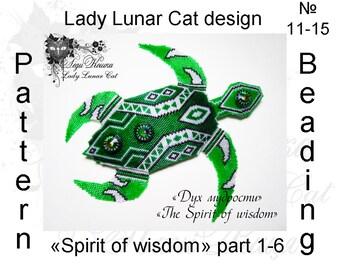 Sea green Turtle, Peyote pattern, Summer patterns, Spring patterns, Peyote stitch patterns, Brick stitch patterns, Seed beads patterns,