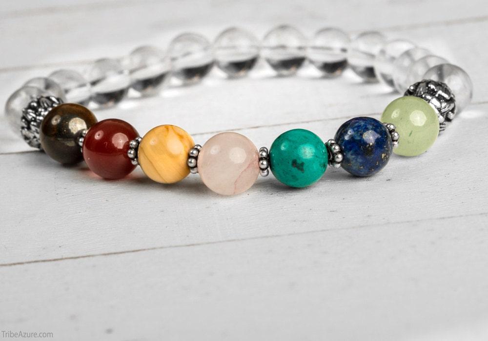 seven chakra mala bracelet with master healing