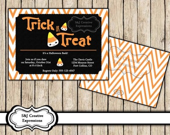 Digital Halloween Invitation, Trick or Treat!