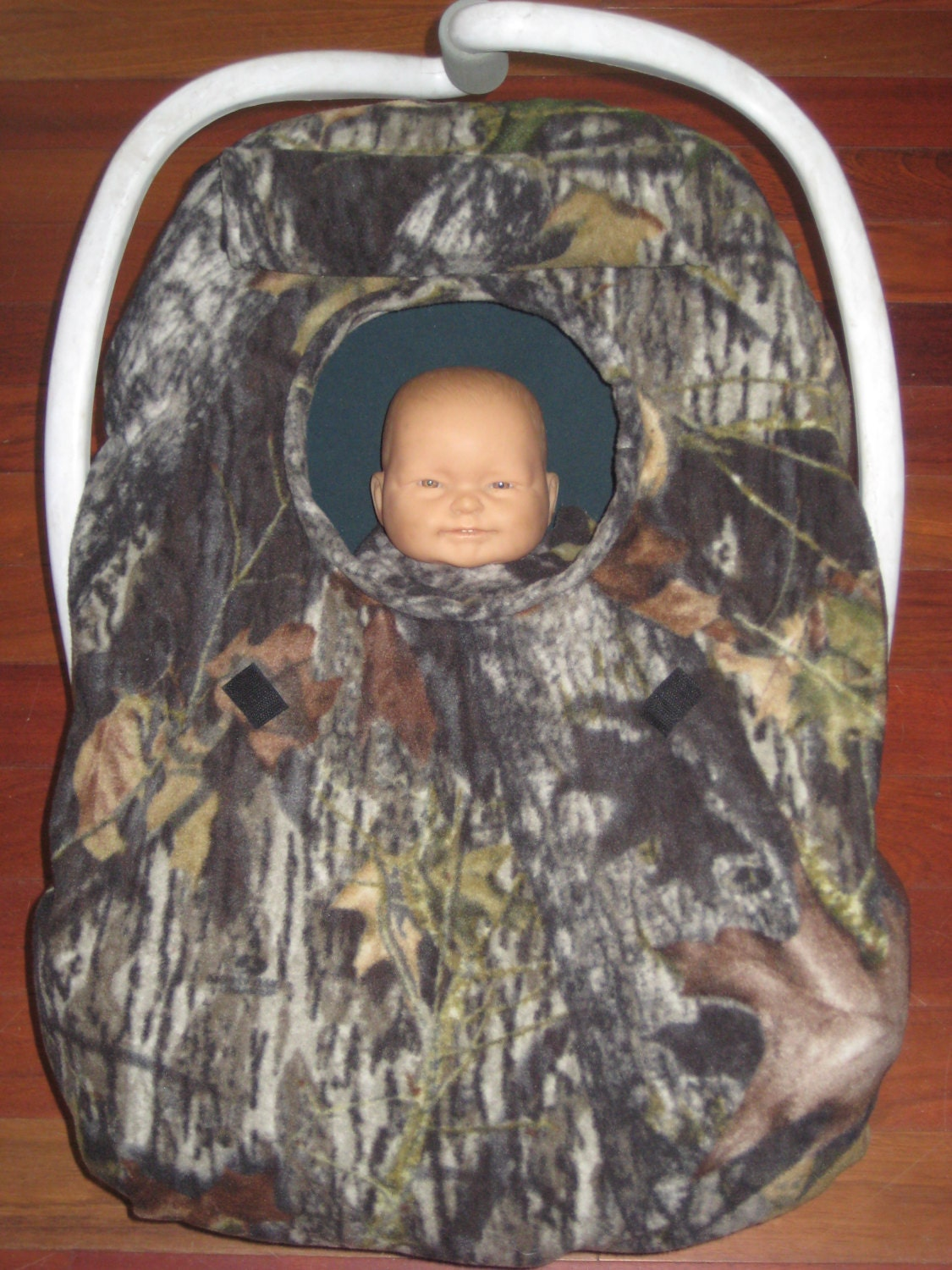 Mossy Oak Camouflage Camo Fleece Infant Car Seat Carrier Cover