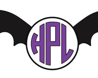 Bat MonogramVinyl Decal