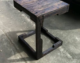 Rustic end table.