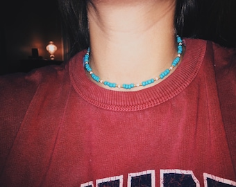 Turquoise + Gold Pattern
