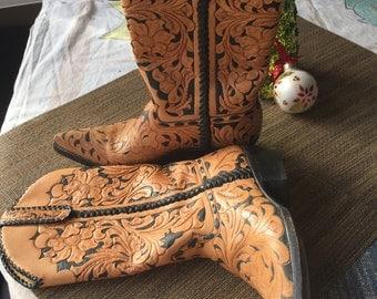 Custom Cowboy Boots Size 6