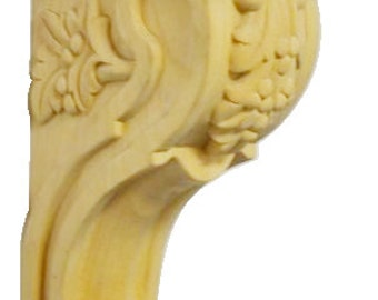 Maple Wood Corbel Leaf & Berry Design