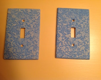 Teal light switch covers - 2