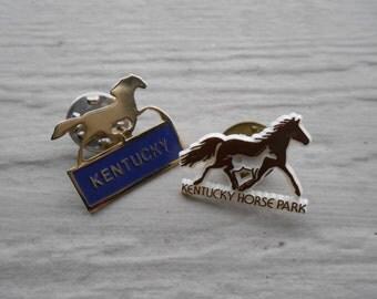 Vintage Kentucky Horse Pins. Enamel. 1970's.
