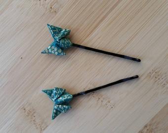 Origami bobby pins