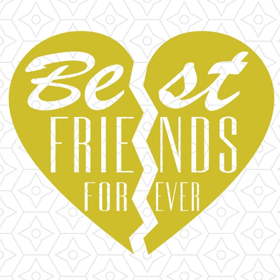 Best Friends Forever Heart Design Svg Dxf Vector Files For