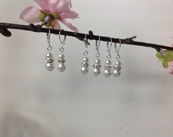 Bridal Pearl Earrings, Swarovski Earrings bridesmaid drop Earrings, Pearl Bridal Earrings, Bridal jewelry, Wedding Jewelry, Bridesmaid gifts