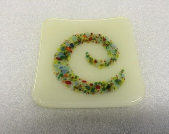 Fused glass appetizer dish