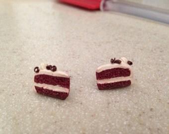 Red Velvet Cake Post Earrings
