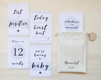 Pregnancy Milestone Cards - Monochrome and Marble Collection