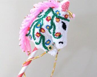 Little Girl Hobby Horse,Hobby Horse, Pink Horse,