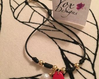 Red hand bracelet