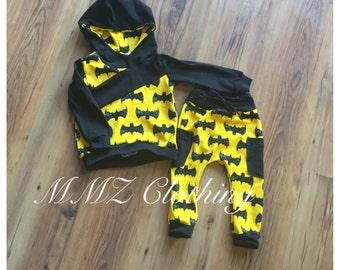 Bat Hoodie and Drawstring Pants
