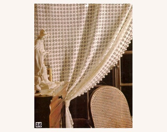 Genuine Vintage Novel Ultra-Lacy Motif 'White Curtain' with Edging Crochet Pattern PDF