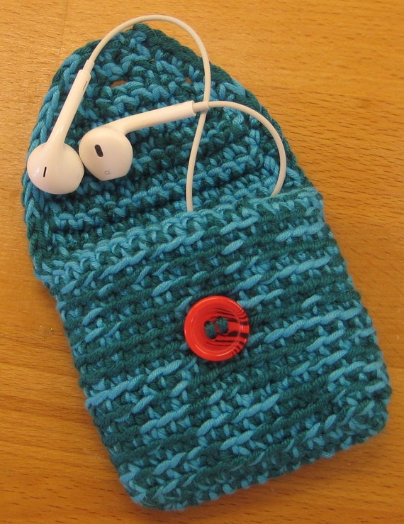 Crocheted Coin Purse or Earphone Holder, Change Purse, Change Holder ...