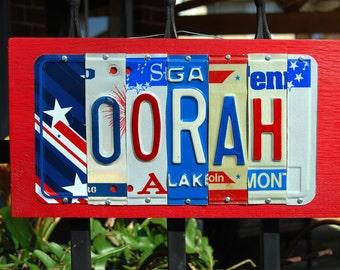 OORAH, USMC Marines license plate sign