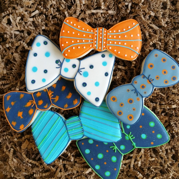 Bow Tie Cookies Royal Icing Sugar Cookies Boy Baby By