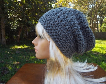 SALE! Crochet Slouch Beanie Hat for Adult or Teen  Ready to ship!
