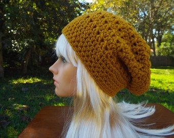 SALE! Crochet Slouch Beanie Hat for Adult or Teen.  Ready to ship!