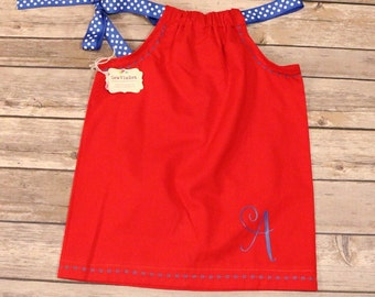Red,White and Blue Pillow case dress.. girls/infants/toddler.. Made to order.. Summer/Spring/4th of July dress