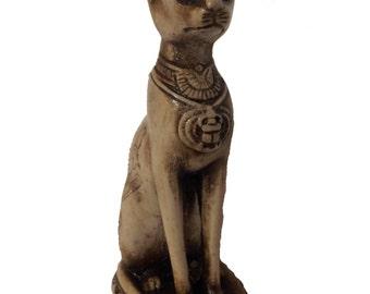 Unique Handmade Statue of Ancient Egyptian Cat Goddess Bastet