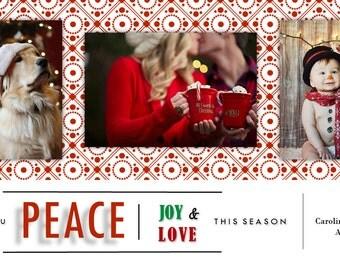Peace, Love and Joy Christmas card