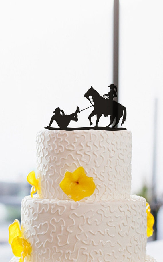 Wedding Cake Topper Funny Cowboy Cake Topper Cake By DreamsGarden