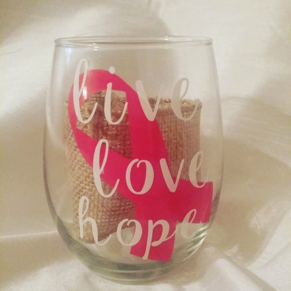 breast cancer glass eBay