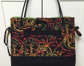 Bow Tuck Bag in Unique Print