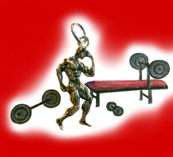musculation bijoux bodybuilding pendentif en argent collier. Black Bedroom Furniture Sets. Home Design Ideas
