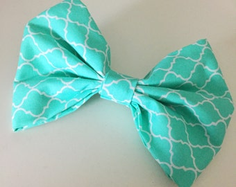 Large Bow Hair Pin - Turquoise