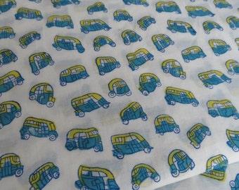 Tuk Tuk Block Printed Fabric by the yard