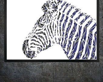 Zebra Wall Art zebra wall decor | etsy
