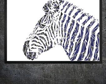 Zebra Wall Art zebra wall decor | etsy