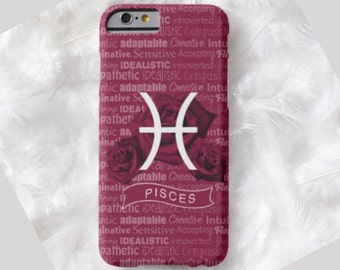 PISCES Cell Phone Case, ZODIAC iPhone 6 case, Note 4 cell case, iPhone 6 plus cell case, iPhone 6 plus case, Galaxy Samsung S6 #510