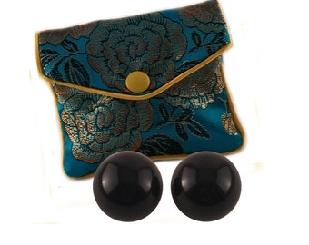 Ben Wa Balls Black Obsidian Set of 2 Undrilled