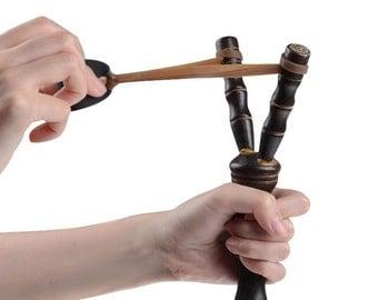 Slingshot, hand made slingshot bamboo wood