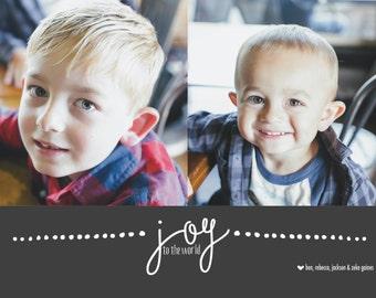 Joy Custom Photo Holiday Card